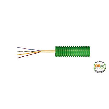 Gaine préfilée réseau de communication verte PM Plastic Materials