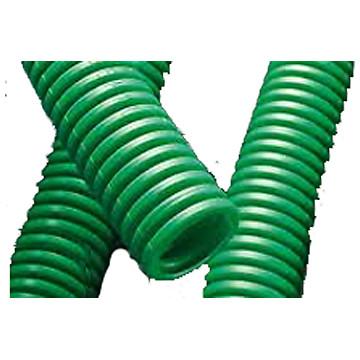 Gaine ICTA 3422 verte avec tire-fils PM Plastic Materials