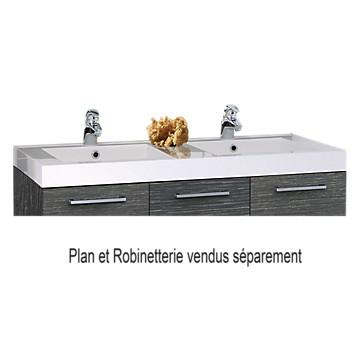 Plan de toilette Duna de 120 cm - Prismalite 2 vasques MB Expert