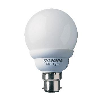 Lampe fluo-compacte Mini-Lynx sphérique Sylvania
