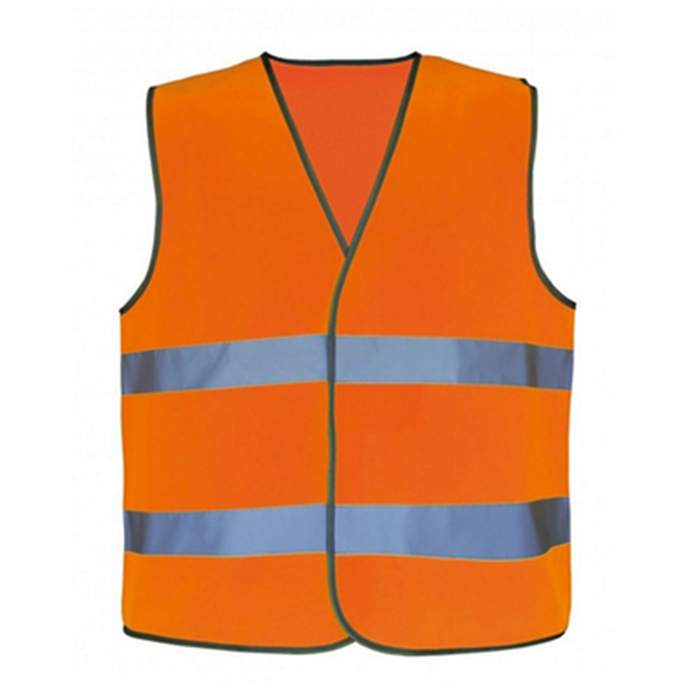 Gilet NEON Orange marquage dos Visiteur