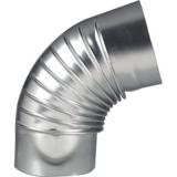 Coude à 90° en aluminium plissé