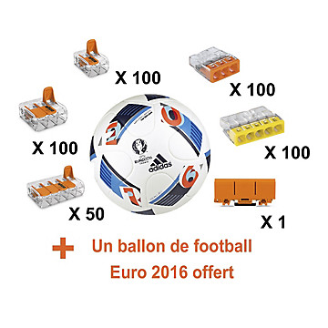 Pack promotionnel 450 bornes + un ballon de football Wago